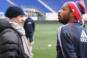 Tito Vilanova i Thierry Henry na treningu New York Red Bulls