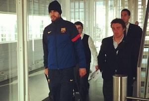 Piqué wrócił do Barcelony dopiero dziś