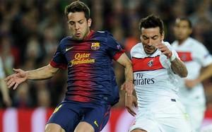 Jordi Alba w meczu z PSG.