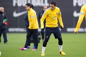 Adriano i Pedro trenują z grupą