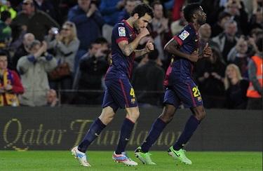 Cesc ratuje punkty: FC Barcelona 1-0 Levante UD
