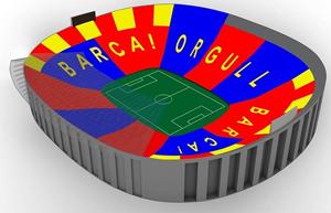 Mozaika ukazująca dumę na mecz z Bayernem