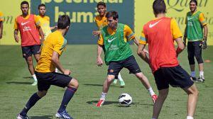 Messi i Sergio trenowali z grupą