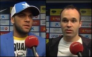 Iniesta i Dani Alves po meczu