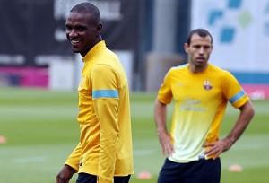 Abidal i Mascherano trenowali z grupą