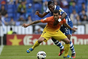 Dani Alves i Villa po spotkaniu z Espanyolem