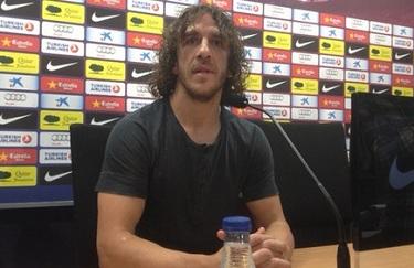 Carles Puyol na konferencji prasowej