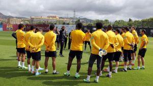 Sobotni trening przed meczem z Atlético
