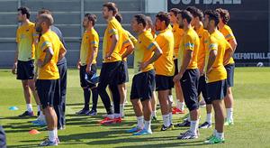 Trening: Messi pracował z fizjoterapeutą