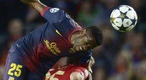 Alex Song we wczorajszym meczu z Bayernem.