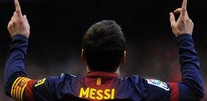 Leo Messi w meczu z Athletikiem Bilbao.