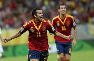 Hiszpania pokonuje Urugwaj, bramka Pedro