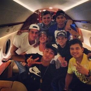 Zdjęcie Neymara z Instagramu, lot do Barcelony.