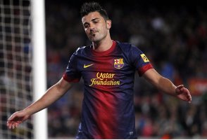 David Villa w barwach Barcelony