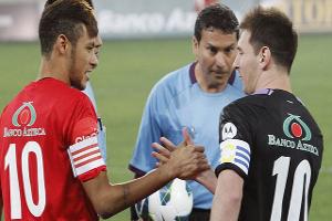 Messi i Neymar na meczu charytatywnym