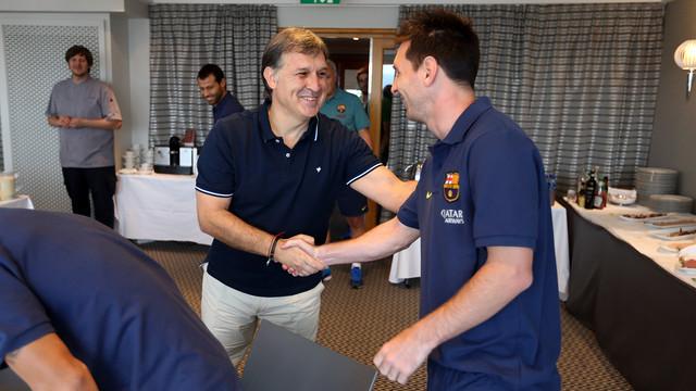 Tata Martino spotkał się z zawodnikami i sztabem szkoleniowym