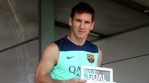 Leo Messi zwycięzcą Goal 50