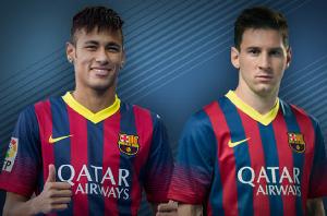 Messi gorąco przywitał Neymara