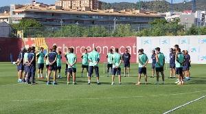 Wieczorny trening Barçy