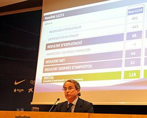 Javier Faus przedstawia sprawozdanie finansowe