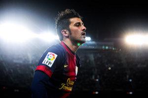 David Villa w barwach Barcelony w sezonie 2012/13
