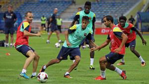 Trening na stadionie Bukit Jalil