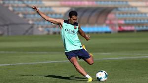 Pedro na treningu