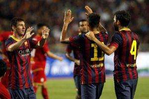Neymar strzela swojego pierwszego gola w barwach Barçy