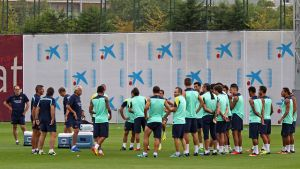 Leo Messi pod okiem fizjoterapeutów