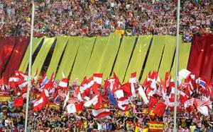 Barça wrogo przyjęta na Calderón, rasistowsie okrzyki w kierunku Alvesa