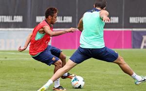 Juanma i Ebwelle trenowali z pierwszym zespołem