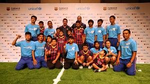 Messi i Pinto wzięli udział wydarzeniu organizowanym przez Fundację FCB i Unicef