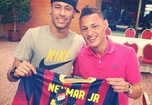 Neymar odwiedził swoich byłych kolegów z szatni