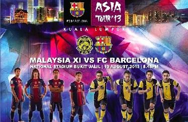 Zapowiedź meczu: Malezja XI – FC Barcelona