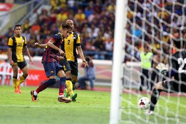 Trzy gole więcej i koniec azjatyckiej przygody. Malezja XI 1-3 FC Barcelona