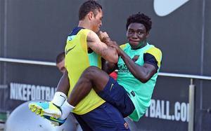 Dongou na ostatnim treningu przed Pucharem Gampera