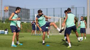 Sergio Busquets trenował z grupą