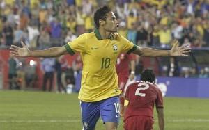 Neymar gwiazdą w meczu z Portugalią