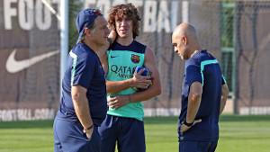 Carles Puyol trenował z grupą