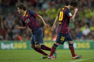 Messi opuszcza boisko z dyskomfortem [Aktualizacja]