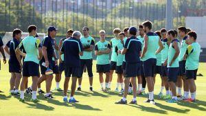 Gracze rezerw na treningu Barçy