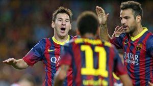 Lionel Messi, Neymar, Cesc Fabregas
