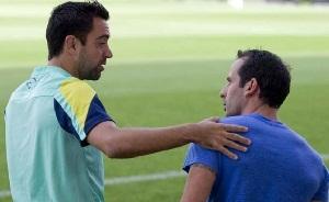Giuly obecny na treningu FC Barcelony