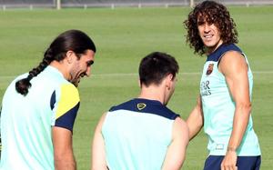 Puyol świętuje swój powrót do treningów na Twitterze