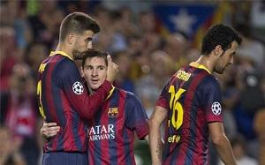 Piqué i Messi w idealnej jedenastce pierwszej rundy Ligi Mistrzów
