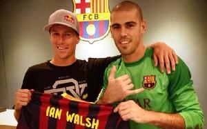 Ian Walsh na Camp Nou