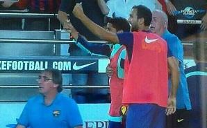 Zawodnicy tłumaczą gest w stronę piłkarzy Sevilli