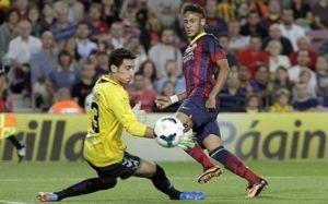 Neymar: Pozycja dziewiątki jest dla Messiego
