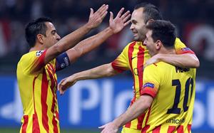 Xavi: Zagraliśmy dobrze przeciwko Milanowi