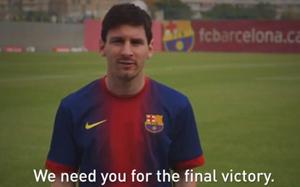 Messi dołącza do światowego dnia Polio